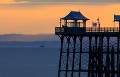 Clevedon Pier-Schattenbild Stockfotos