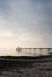 Clevedon Pier und Küstenvorland lizenzfreie stockfotografie