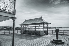 Clevedon Pier. A view of Clevedon Pier in Somerset, England Royalty Free Stock Photo