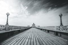 Clevedon Pier. A view of Clevedon Pier in Somerset, England Royalty Free Stock Image