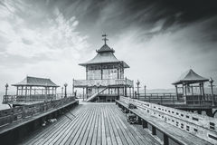 Clevedon Pier. A view of Clevedon Pier in Somerset, England Stock Photos