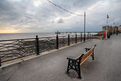 Clevedon Seafront. Stormy sunset at the seafront at Clevedon in north Somerset Royalty Free Stock Image