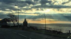 Clevedon-Seeseite stockfotografie