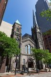 Cleveland's Old Stone Church Royalty Free Stock Image