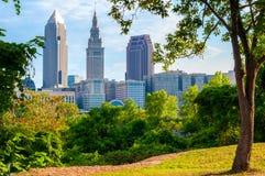 Cleveland Árbol-enmarcada Imagen de archivo libre de regalías