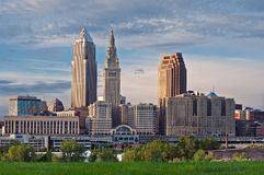 Cleveland. Image of Cleveland downtown skyline at sunset royalty free stock images