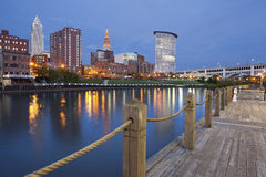 Cleveland. Image of Cleveland downtown at twilight blue hour royalty free stock photography