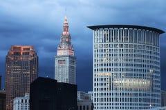 Cleveland-Abendzeit lizenzfreie stockfotos