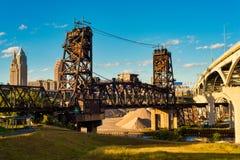 Cleveland broar Fotografering för Bildbyråer