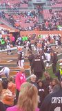 Cleveland Browns Game Field. Taken in Cleveland Ohio Browns vs Raiders game royalty free stock image