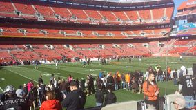 Cleveland Browns Game. Cleveland Browns Versus Oakland Raiders stock images