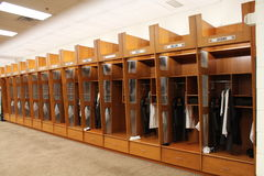 Cleveland Browns Home locker room. royalty free stock image
