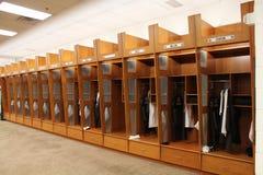 Cleveland Browns Home omklädningsrum med låsbara skåp Royaltyfri Bild