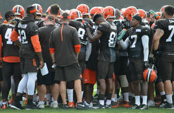 Cleveland Browns NFL Training Camp 2016 Royalty Free Stock Photo
