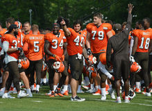 Cleveland Browns Training Camp 2017 Photo stock
