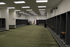 Cleveland Browns Visitors locker room. Stock Photo