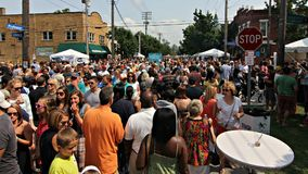 The Taste of Tremont Festival in Cleveland, Ohio. Cleveland is a city in the U.S. state of Ohio and the county seat of Cuyahoga County, the state`s second most Stock Image