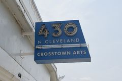 Cleveland Crosstown Arts norte, Memphis, TN foto de stock