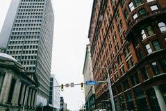 Cleveland da baixa, Ohio Imagem de Stock Royalty Free
