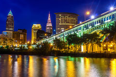 Cleveland da baixa Ohio imagens de stock royalty free