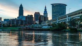Cleveland da baixa Ohio imagem de stock