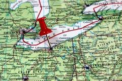 Cleveland in de V.S. royalty-vrije stock foto's