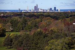 Cleveland - distant skyline Royalty Free Stock Photos