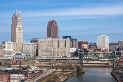 Cleveland du centre photos stock