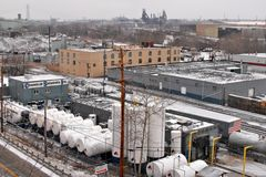 Cleveland en el invierno ningún 3 Fotografía de archivo