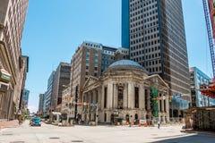 Cleveland Euclid Avenue à la 9ème rue d'est Photos stock