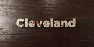 Cleveland - grungy wooden headline on Maple  - 3D rendered royalty free stock image Royalty Free Stock Photos