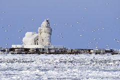 Cleveland Harbor West Pierhead Lighthouse Royalty Free Stock Image