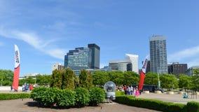 Cleveland im Stadtzentrum gelegen Lizenzfreies Stockfoto