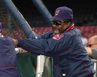 Eddie Murray. Cleveland Indians coach Eddie Murray. Image taken from color slide Stock Image