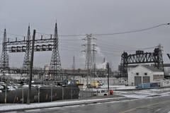 Cleveland industrial, Ohio foto de archivo