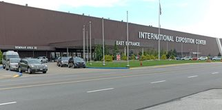 The Cleveland International Exposition Center in Cleveland, Ohio, USA. The Cleveland International Exposition Center, also known as the I-X Center, is one of the stock photography