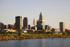 Cleveland from the lake Royalty Free Stock Images