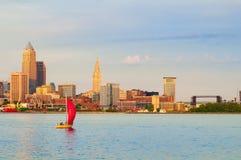 Cleveland on the lake Royalty Free Stock Photo