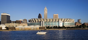 Cleveland from Lake Erie. Downtonw of Cleveland, Ohio seen from Lake Erie Stock Photography