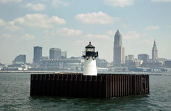 Cleveland from Lake Erie Stock Photography
