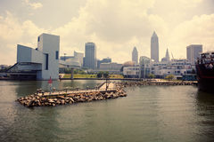 Cleveland from Lake Erie Royalty Free Stock Photo