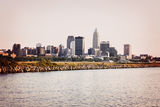 Cleveland from Lake Erie Stock Photos