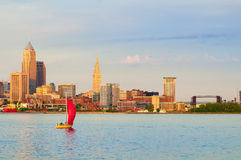 Cleveland on the lake Royalty Free Stock Photo