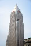 Cleveland landmark. CLEVELAND, USA - JUNE 29, 2013: Exterior view of Key Tower in Cleveland. Tenants of building include KeyCorp, KeyBank, BakerHostetler law Stock Photo