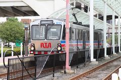 Cleveland light rail Stock Photo