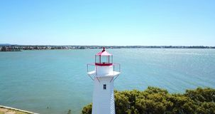 Cleveland Lighthouse in Cleveland, Brisbane. Cleveland lighthouse in the late afternoon. Brisbane, Queensland, Australia stock video