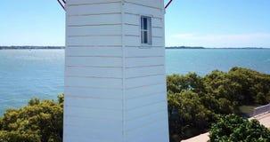 Cleveland Lighthouse in Cleveland, Brisbane. Cleveland lighthouse in the late afternoon. Brisbane, Queensland, Australia stock video footage
