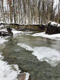 A snowy look at the Cleveland Metroparks - Parma, Ohio. Cleveland Metroparks is an extensive system of nature preserves in Greater Cleveland, Ohio. The various Royalty Free Stock Photos