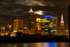 Cleveland moonscape Royalty Free Stock Image