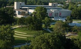 Cleveland muzeum sztuki i przejście z góry obrazy stock
